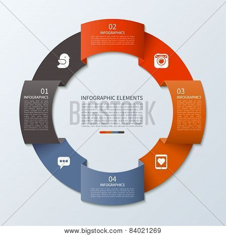 Modern infographics circle