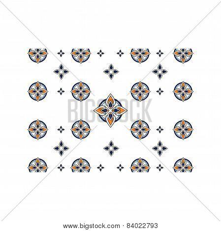 Pattern white and blue Mosaic