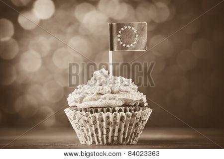 Cake With Eu Flag