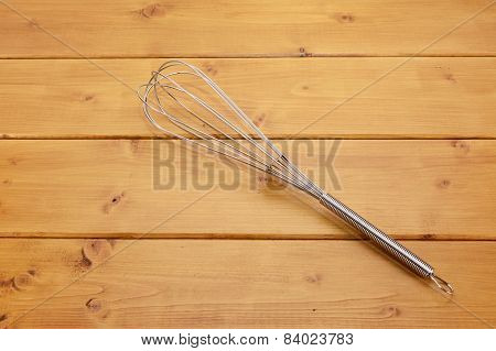 Metal Whisk On A Table