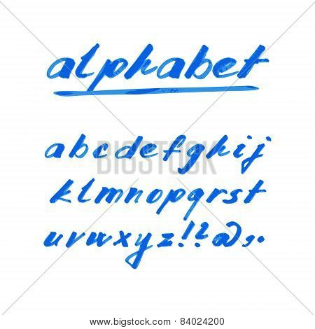 Hand Drawn Vector Alphabet, Marker Or Ink Font