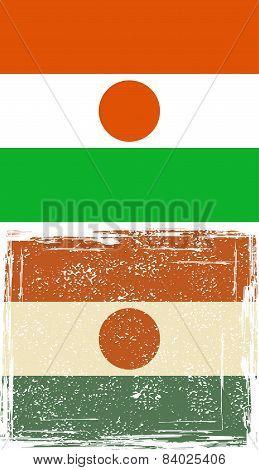 Niger grunge flag. Vector illustration