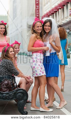 The Bride And Young Girls