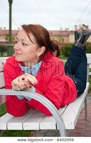 Woman On Bench