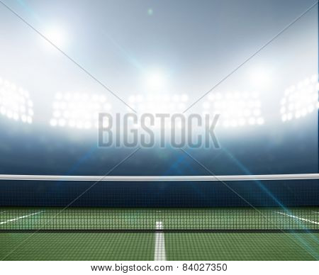 Stadium And Tennis Court