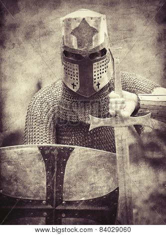 Knight. Photo In Vintage Style