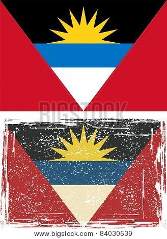 Antigua and Barbuda grunge flag. Vector illustration