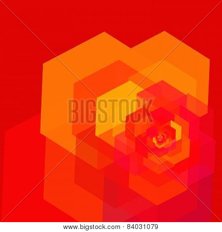 Abstract Rose Geometric Background