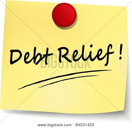 Debt Relief Yellow Note