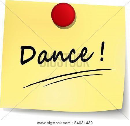 Dance Yellow Note