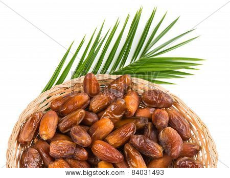 Date Fruits In A Dish, Top View