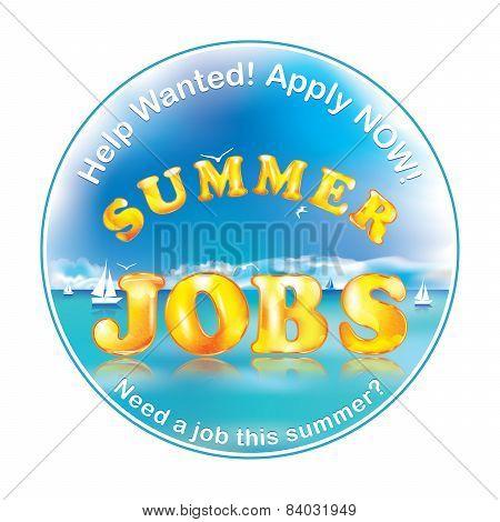 Summer jobs label