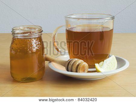 Honey lemon cup of tea
