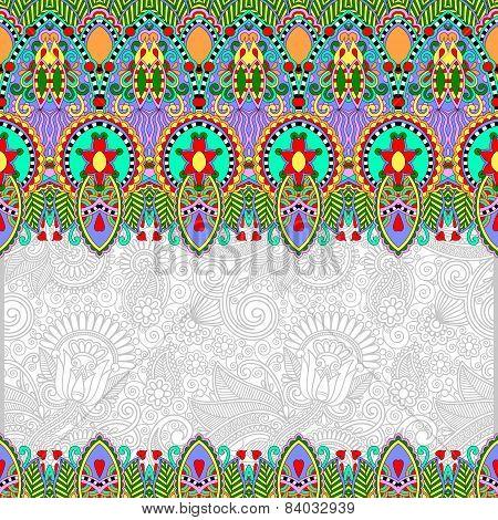 ornamental floral folkloric background for invitation, cover des
