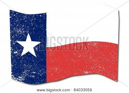 Waving Texas State Flag.