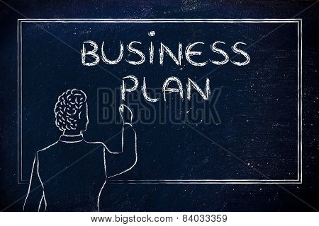 Teacher Or Ceo Explaining About Business Plan