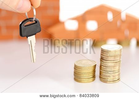 Money Coins And Key