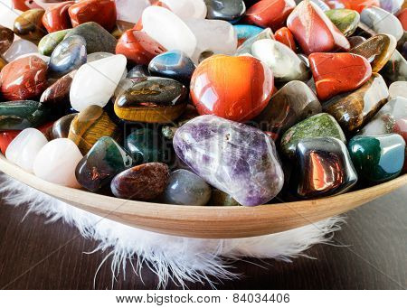 Colorful semi precious stones