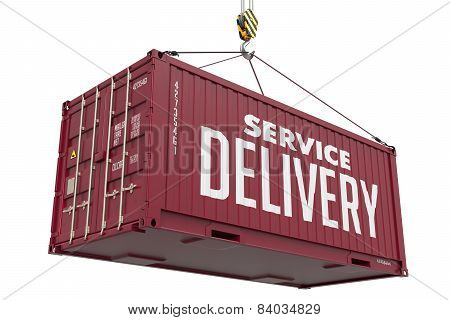 Service Delivery - Brown Hanging Cargo Container.