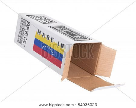 Concept Of Export - Product Of Venezuela