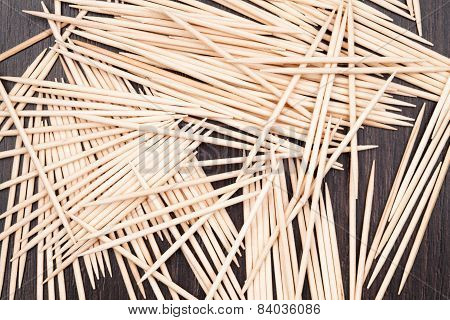 Group Of Small Bamboo Toothpicks