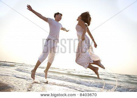 Two Jumping At Dawn