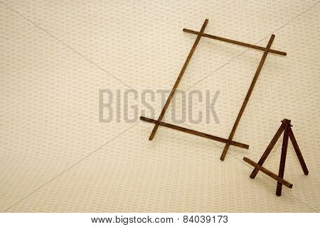 collection of various wooden frames for painting or picture on white background. each one is shot se