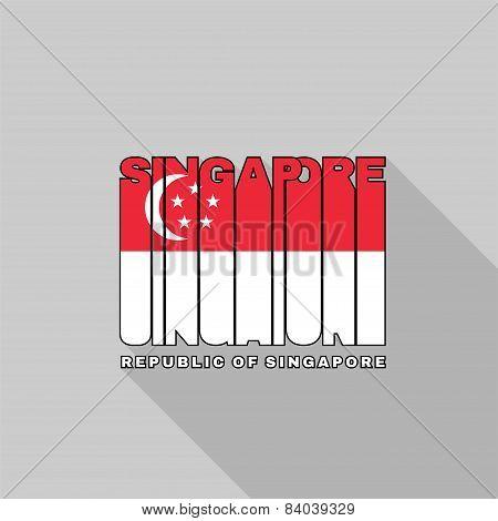 Singapore Flag Typography, T-shirt Graphics