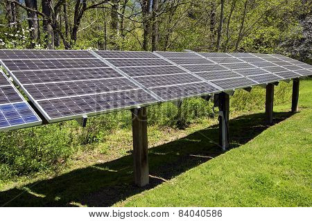 Large Solar Energy Panel Array
