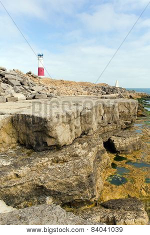 Portland Bill Lighthouse on the Isle of Portland Dorset England UK on the south of the island