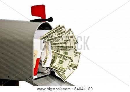 Mailbox With Money And Copy Space