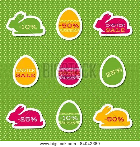 Set of stickers for easter sale
