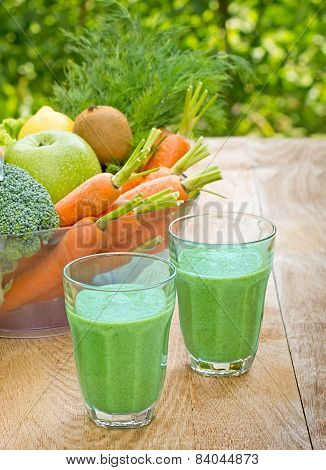 Green smoothie is refreshing drink