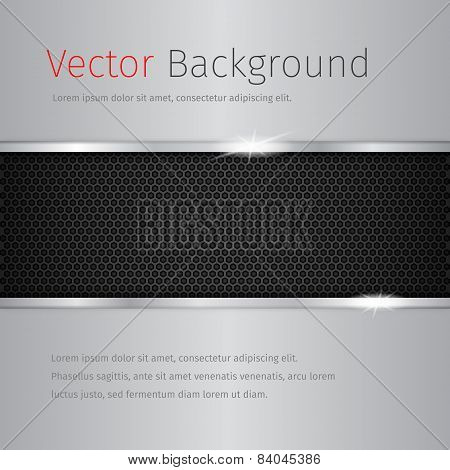 Chrome Vector Background With Dark Pattern