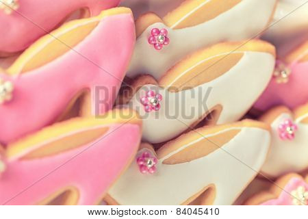Pink and white cookies