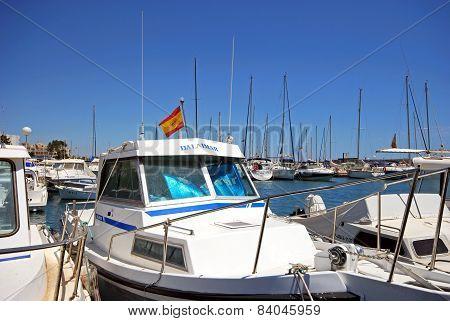 Boats in Garrucha harbour.
