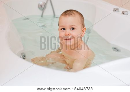 baby in the bathroom
