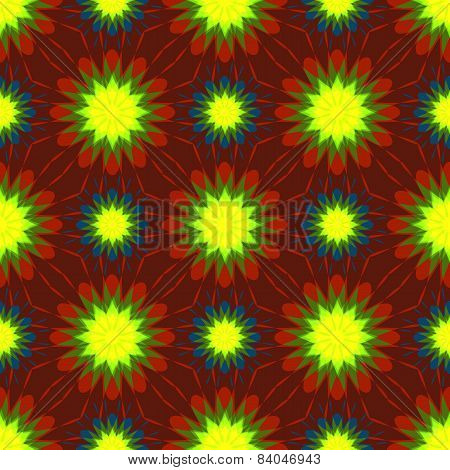 seamless symmetrical floral ornament vector