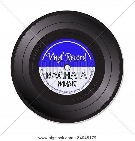 Bachata music vinyl record