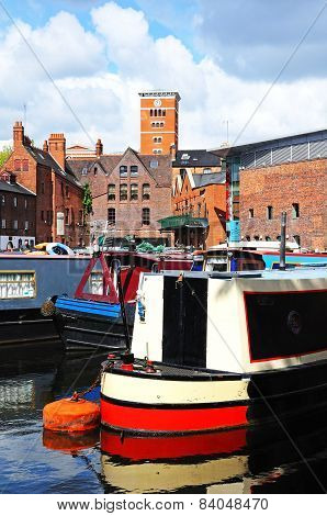 Narrowboats, Birmingham.