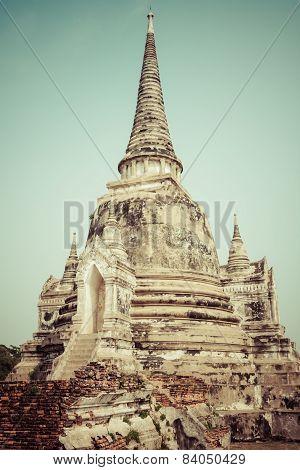 Wat Phrasisanpetch In The Ayutthaya Historical Park, Ayutthaya, Thailand.