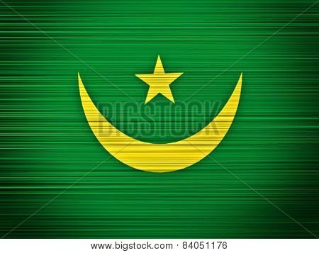 Mauritania Flag Abstract