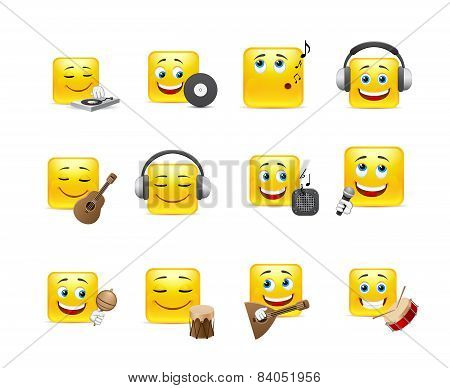 Smileys With Musical Instruments