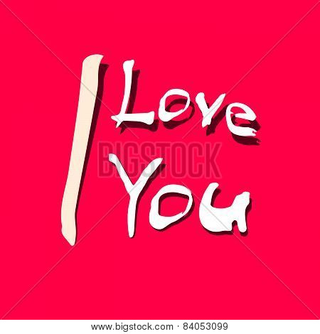 I Love You Title on Red Background