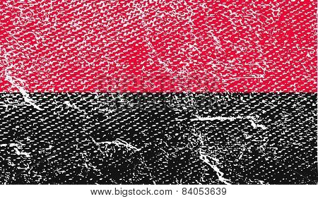 Flag Of Oun-upa With Old Texture. Vector