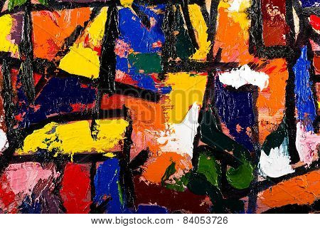 abstract art oil on canvas