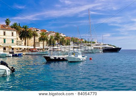 Yachting Harbor Of Hvar Island