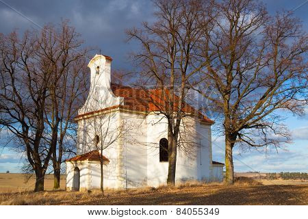 Repaired Small Church On A Hill In Neprobylice