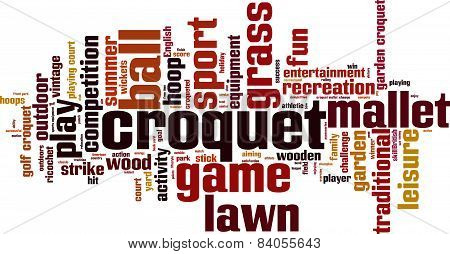 Croquet Word Cloud