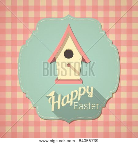 Easter Card With Birdhouse